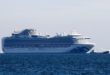 االسفينة السياحية دياموند برنسيس في ميناء يوكوهاما يوم الأربعاء. تصوير: كيم كيونج-هوون - رويترز.
