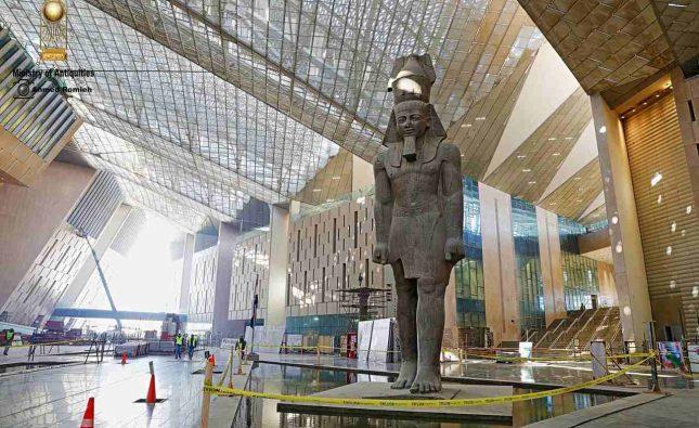زاهى حواس: انتهاء 80 % من أعمال المتحف المصرى الكبير