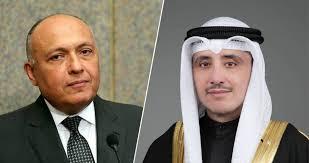 وزير خارجية الكويت لسامح شكري: سنراجع قرار وقف رحلات الطيران من مصر