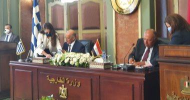 وزير الخارجية المصرى و نظيره اليونانى يوقعان إتفاقية ترسيم الحدود البحرية