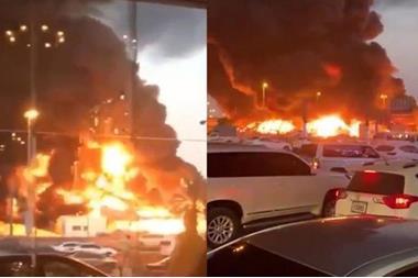 """الإمارات تكشف لأول مرة أسباب حريق """"السوق الإيراني"""""""
