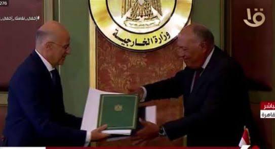 تفاصيل المؤتمر الصحفى بين وزير الخارجية المصرى ونظيره اليونانى