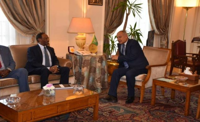 أبو الغيط يبحث مع الرئيس محمد عبد الله فرماجو دعم الجامعة العربية للصومال
