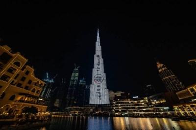 برج خليفة يحتفي ببطولة أبوظبي العالمية لمحترفي الجوجيتسو
