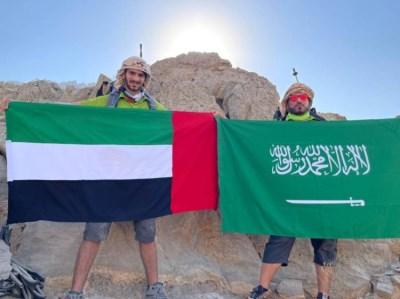 أعلى«جيس»مغامران إماراتيان يحتفلان بالعيد الوطني السعودي